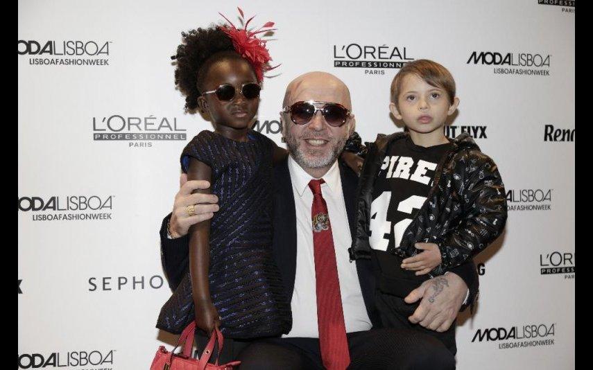 Eduardo Beauté com os filhos Lurdes e Bernardo