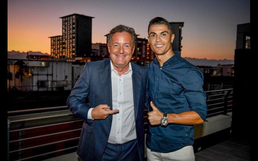Cristiano Ronaldo e Piers Morgan