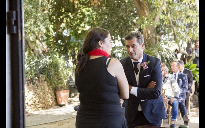Francisco no dia do casamento