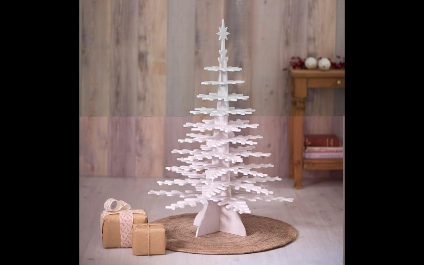 Árvore de Natal Pinheiro Branco  LE ROY MERLIN - 47,99€