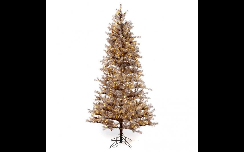 Árvore de Natal 230 cm castanho cristalizado pinhas e luzes 400 Led - Holyart - 499,02€