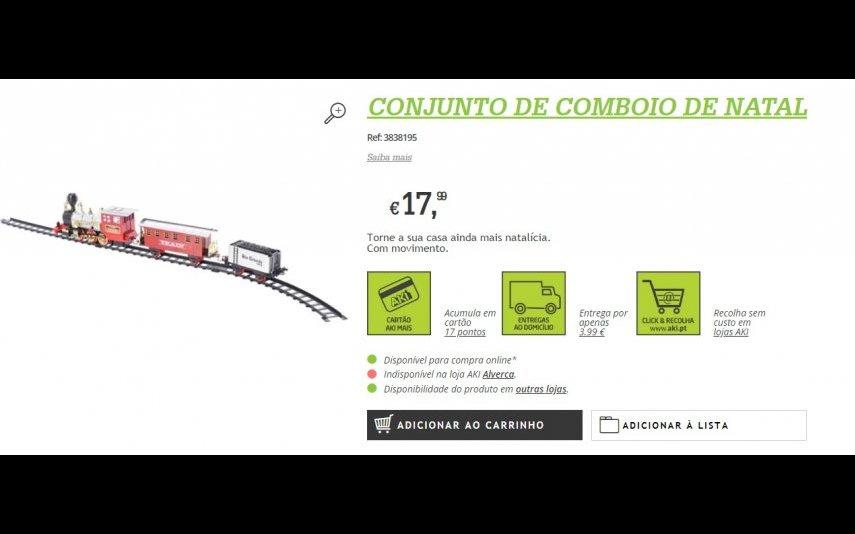 Conjunto de Comboio de Natal - 17.99 € no Aki