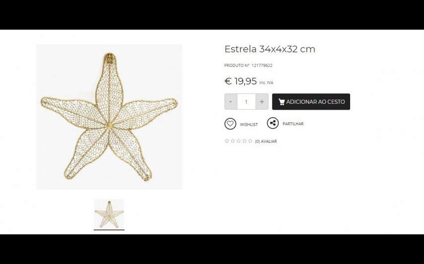 Estrela Decorativa - 19.95 € A Loja do Gato Preto