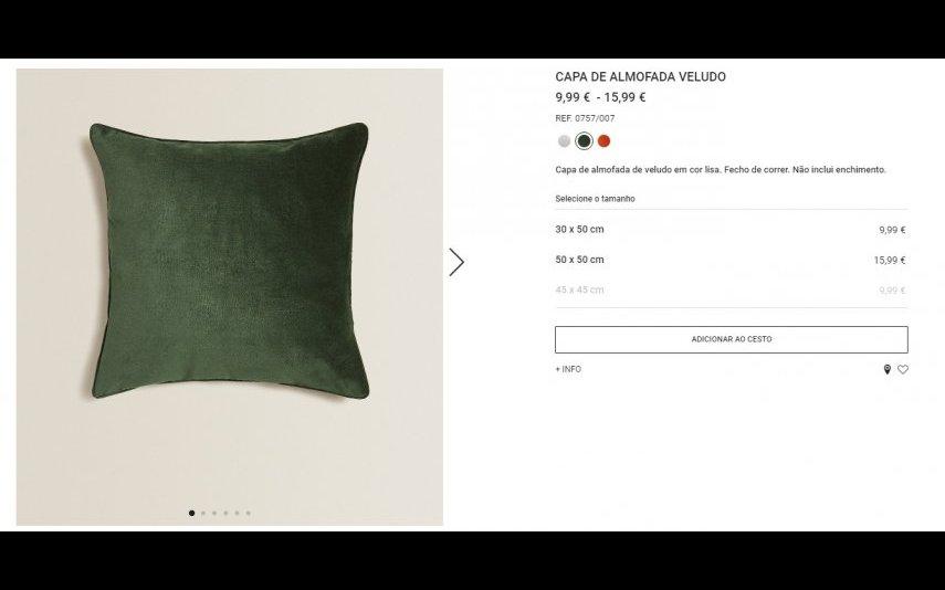 Almofada - 9.99 - 15.99 € Zara Home