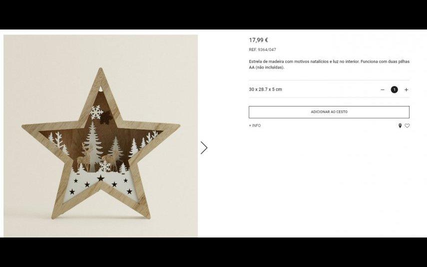 Estrela de madeira - 17.99 € Zara Home