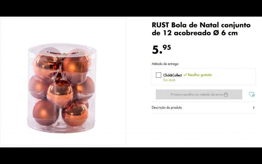 Conjunto Bolas de Natal - 5.95 € na loja Casa