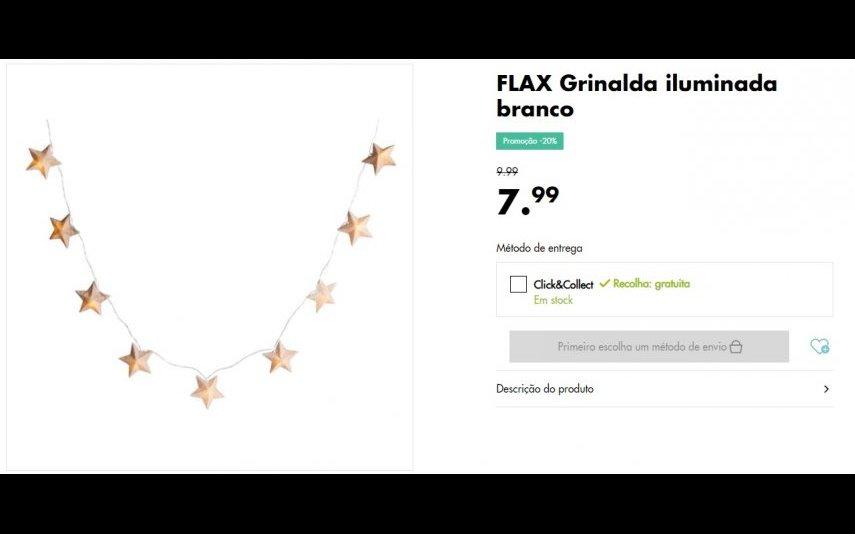Grinalda Iluminada - 7.99 € na loja Casa